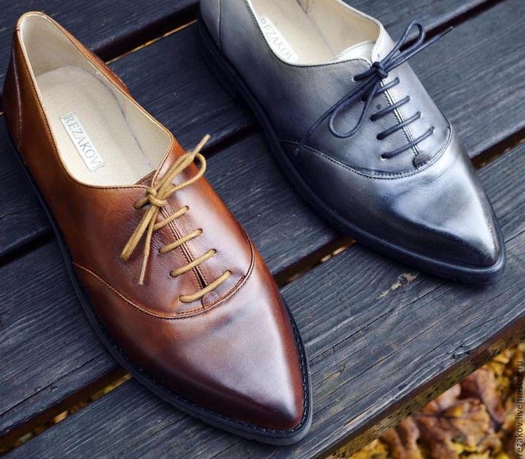 Купить Женские оксфорды из кожи - rezakov, обувь, ручная работа, стиль, spbfw, Авторский дизайн