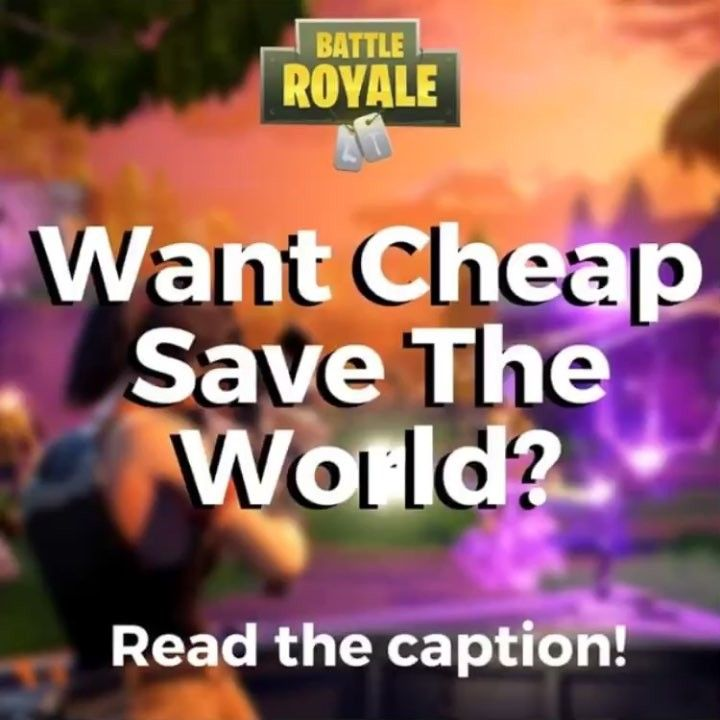 Want Fortnite Save the World?? Get it now for only $19.95!! (Today only) DM @fortnite_savetheworld now!  @fortnite_savetheworld  @fortnite_savetheworld #fortnite #callofduty #rainbowsixsiege #update #leak #fallout #pubg #overwatch #apple #steam #free #xbox #playstation #trump #minecraft #h1z1 #battlefield1 #meme #clip #dankmemes #clashroyale #youtube #bbb #lavarball #csgo #ricegum #youtube #loganpaul #jakepaul #maddenmobile #clashofclans