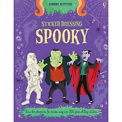 Sticker Dressing Spooky. My love letter to Hammer Horror, Abbott and Costello, Buffy and the Addams Family. With stickers.