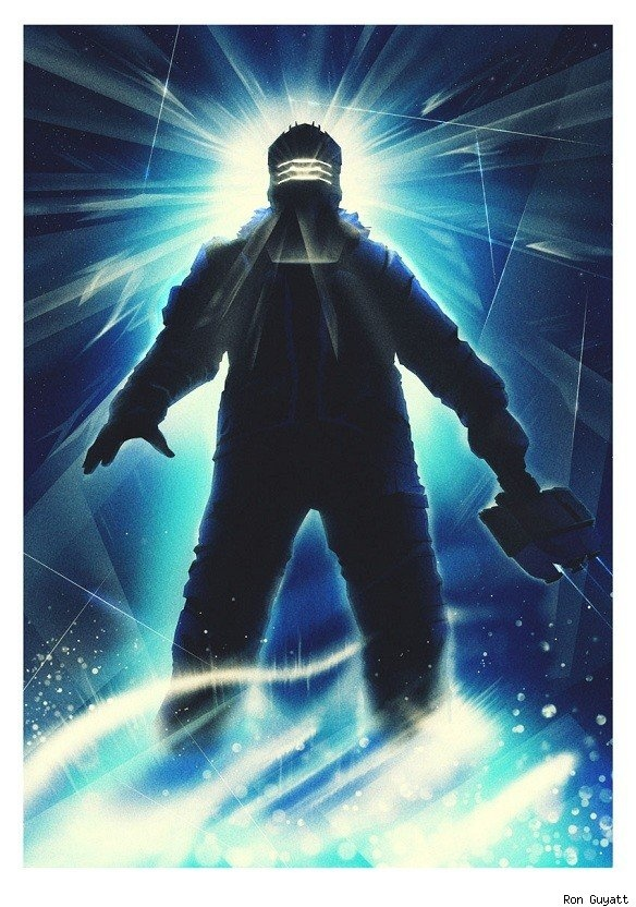 Dead Space x The Thing mashup poster