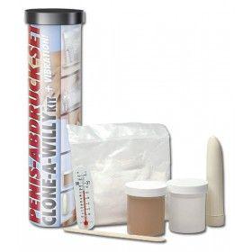 Un regalo perfetto per il proprio partner...crea una copia vibrante del tuo pene!!! Il kit, facile e veloce da utilizzare...