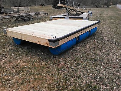 8' x 12' Floating Boat Dock with Blue Plastic 55 Gallon Drums | eBay