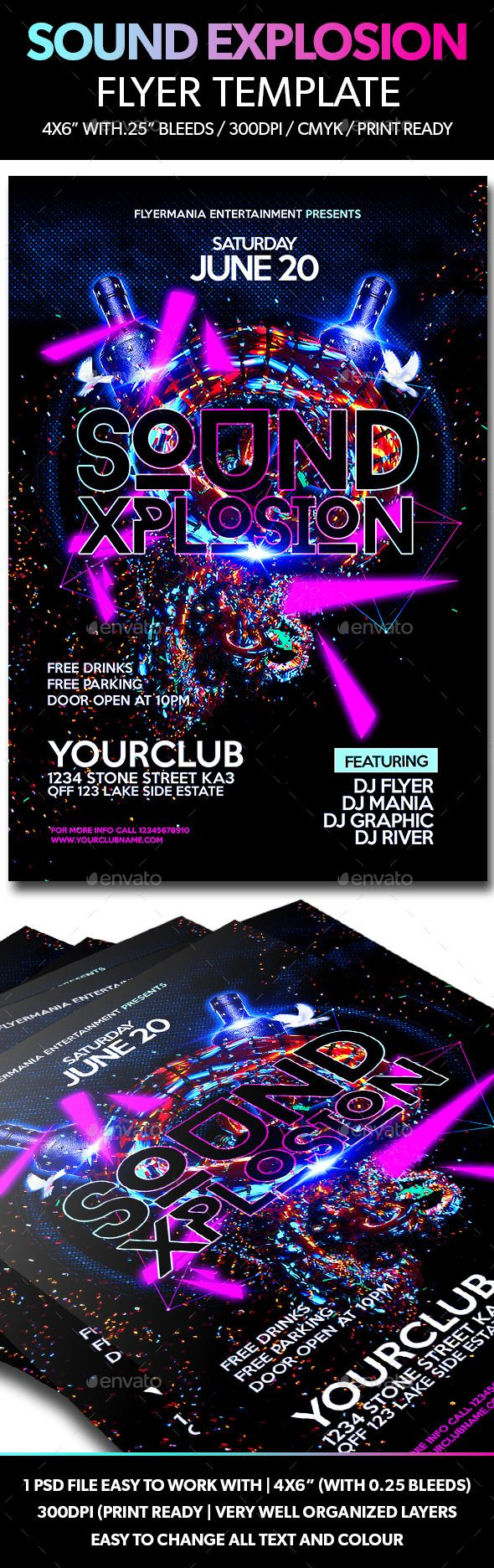 Best Night Club Images On   Advertising Design
