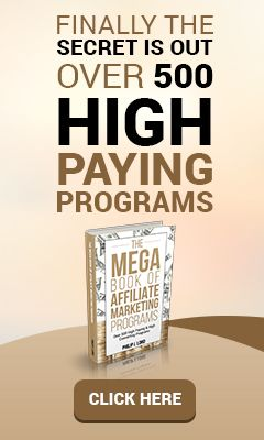 The MEGABOOK of Affiliate Marketing Programs - %URL The MEGABOOK of Affiliate Marketing Programs  #The MEGABOOK of Affiliate Marketing Programs The #MEGABOOK of Affiliate Marketing Programs – Revolutionary new eBook …lets you find High Paying & High Converting #Affiliate Programs in minutes. Introducing: The Mega Book of...