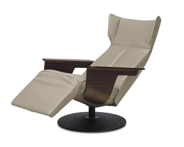 Contemporary Recliner Chairs For Your Furniture Ideas: Contemporary Reclining Leather Armchair With Footstool | Contemporary Recliner Chairs