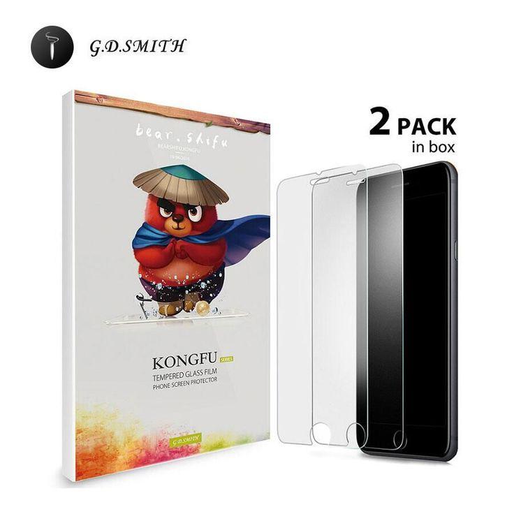 G. d. smith originele 2 stks gehard glas screen protector voor iphone 7 7 plus hoge kwaliteit glas pelicula de vidro 2016 nieuwe
