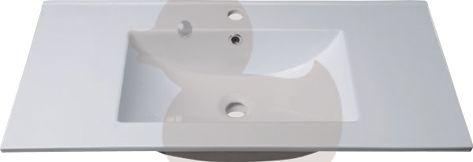 Nábytkové umyvadlo Modena 75x46 cm, otvor pro baterii uprostřed