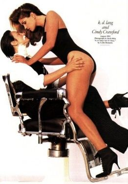 kd lang and Cindy Crawford for Vanity Fair maga...                                                                                                                                                      More