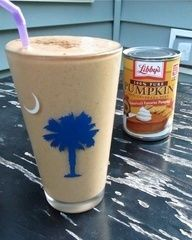 No way Jose. Simply too healthy, too easy too delicious! Im totally doing this!! Pumpkin Pie Smoothie 1/2 banana, 1/3 cup pumpkin puree, 1/3 cup plain Greek yogurt , 3/4 cup vanilla almond  milk (or vanilla soy milk), few shakes of pumpkin pie spice, 4-5 ice cubes. Might add Topp Fast Protein powder for extra nutritional value.