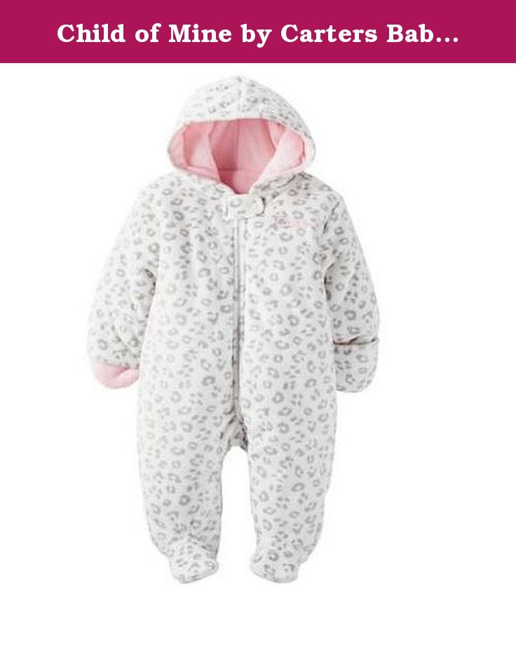 Child of Mine by Carters Baby Pram Boy and Girls Sizes (0-3 Months, Girl White Leopard). Carters Baby Hooded Pram and Puffer Collection. Machine washable soft fabric is 100% polyester shell, 100% cotton fill Faux Fur. It's extra-roomy fit also makes it easy to layer clothing underneath, so it's ideal for all those indoor-outdoor occasions. The Carters pram has a full-length zipper closure and it's available in different colors. These warm high quality prams make the best baby shower…