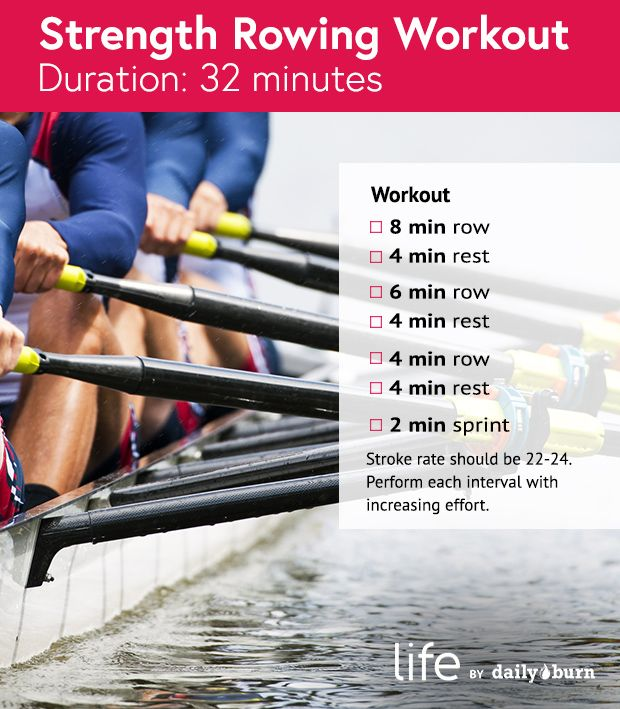 row machine workout results