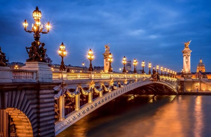 PONT ALEXANDRE 111 – the most beautiful bridge I have ever seen, sitting over River Seine with the fascinating design of street lights