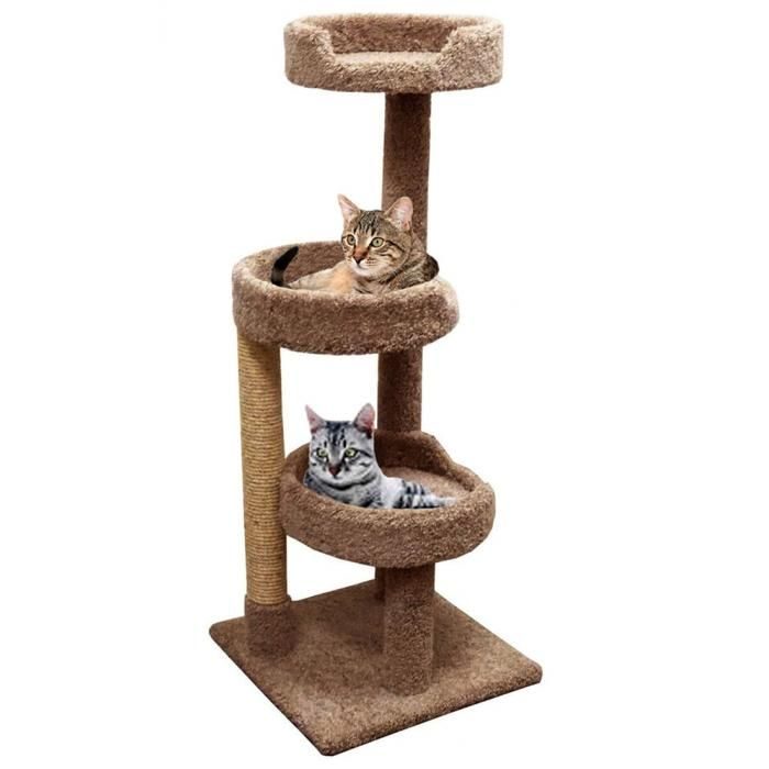 Carpet Cat Climbing Tree For Large Cats With Spacious Beds Cat Furniture Wood Cat Cat Allergies