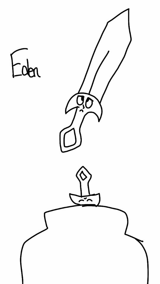 Carlos' sword, Eden. Eden would be Carlos guide through out the game, like a mixture of Fi from Zelda and Jack from Magnus Chase