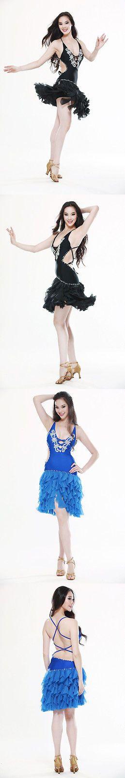 Dancewear: Belly Dance Costume Latin Salsa Tango Cha Cha Ballroom Flamenco Dress 6 Colors -> BUY IT NOW ONLY: $43.89 on eBay!