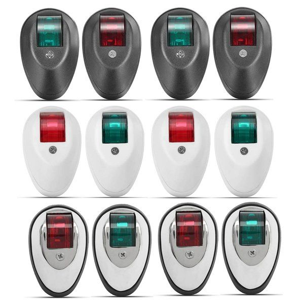 Pair Green&Red Touring Navigation Light Marine Light LED Or Bulb For Car Boat Chandlery Boat Yacht
