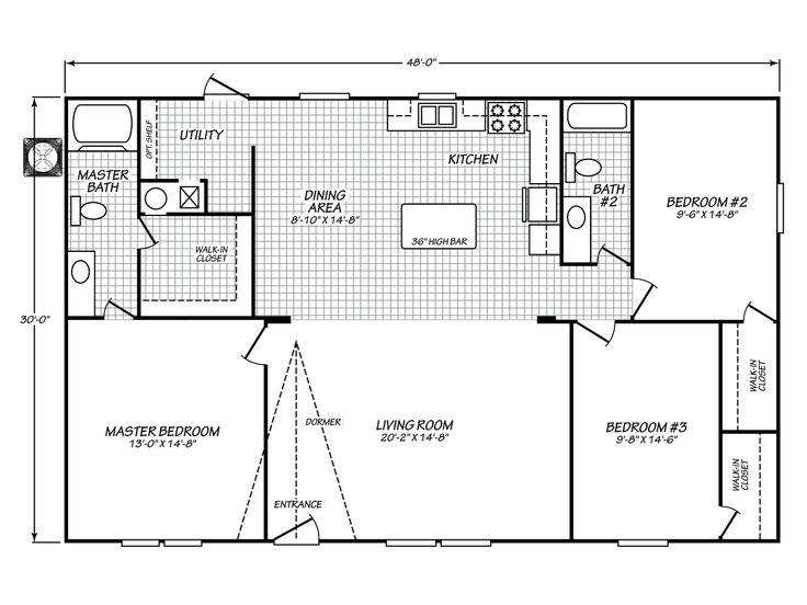 1999 Fleetwood Mobile Home Floor Plan 28 Images