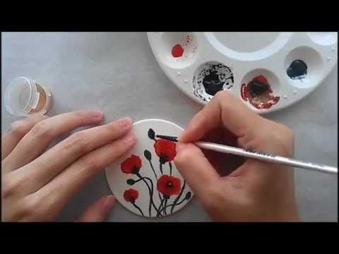 How to Hand Paint Poppies on Gumpaste