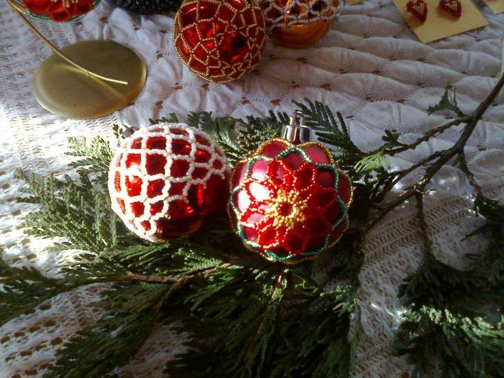 #christmasornaments #beading #christmastree https://www.facebook.com/NiezwyklaProjektownia