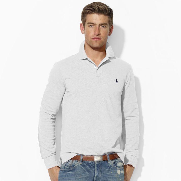 Custom-Fit Long-Sleeved Polo - Long-Sleeve Polo Shirts - Ralph Lauren UK