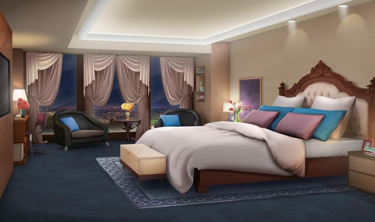 Int euro hotel room flowers flipped night episode for Scenery wallpaper for bedroom