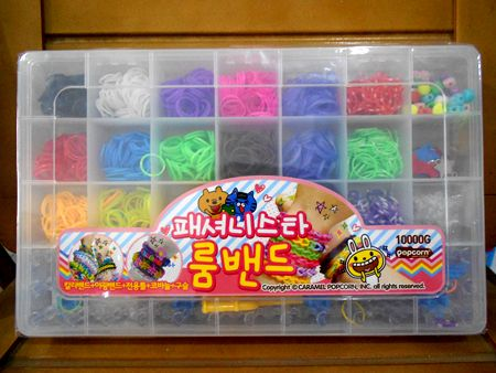 Loom Bands/karet gelang isi 18 warna (Original made Korea)