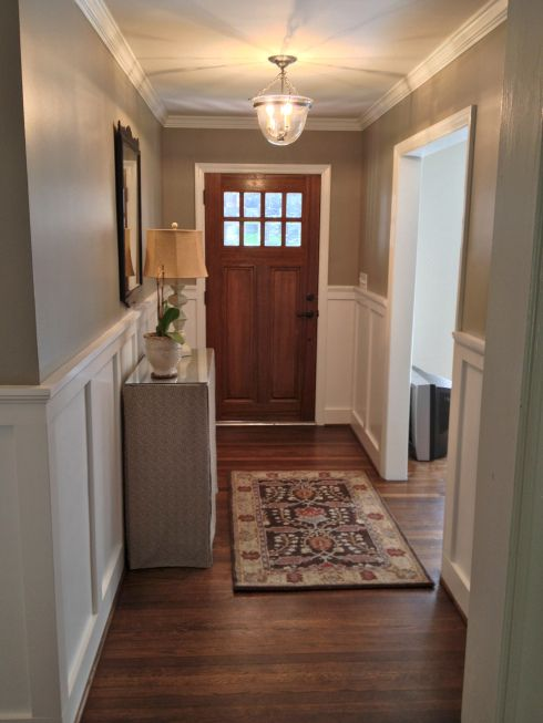 Foyer Paint Jobs : Craftsman door entryway and board batten on pinterest