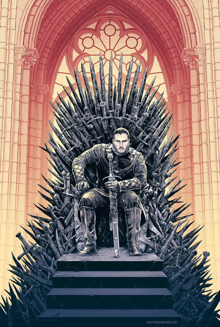 YAS THE RIGHTFUL RULER ON THE IRON THRONE. I WAS ALWAYS BEHIND YOU JON BABY