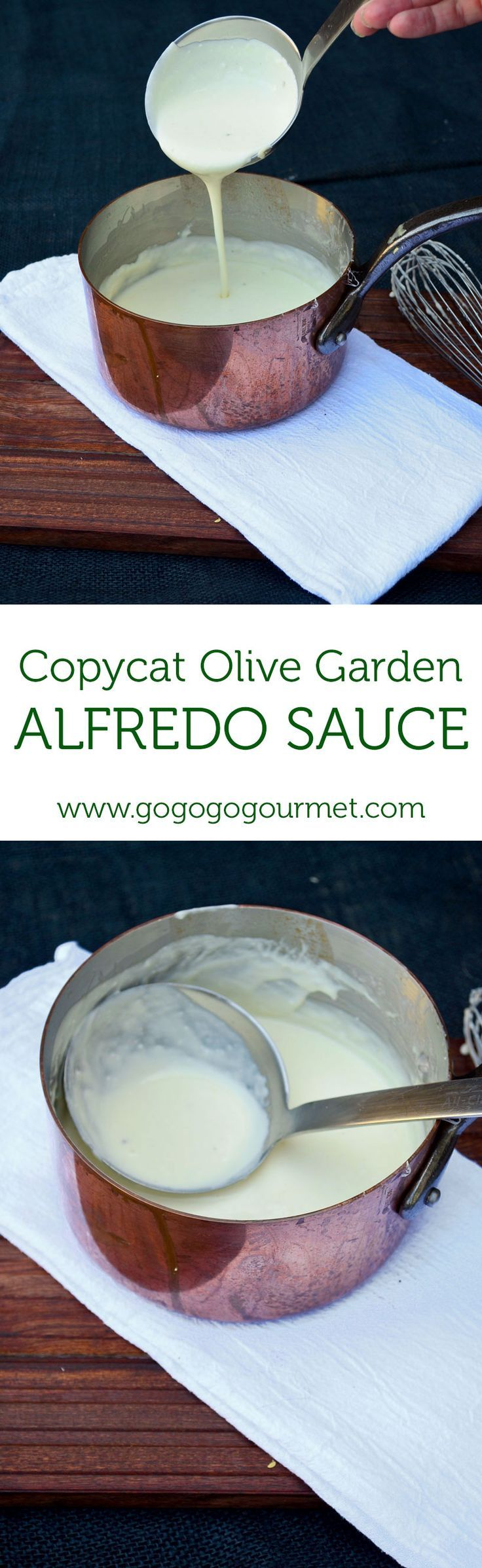 This Copycat Olive Garden Alfredo Sauce is out of this wold good!   Go Go Go Gourmet /gogogogourmet/