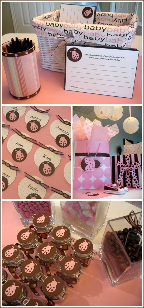 i know someone this is perfect for...a lady bug baby shower!!