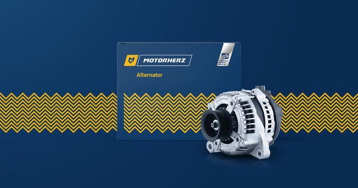 Motorherz — auto parts company identity #branding #logo #autoparts #wave #motor #identity #packaging #parts #steel #energy #pulse