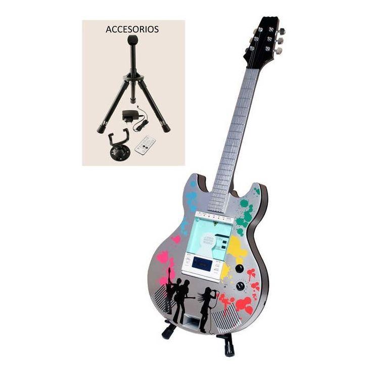 Este equipo de música es una guitarra a tamaño real. Reproductor de CD, conexión para Ipod/MP3,puerto USB y conector de altavoces adicionales y más. Puedes llevarlo y colocarlo en cualquier parte gracias a su trípode, pero además lleva soporte para poder colgarla en la pared. ¿vas a resistirte? www.chehook.es