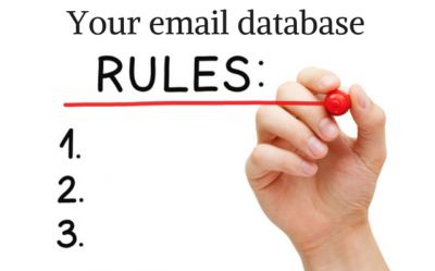 Your email database: rules and regulations