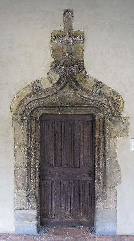 Oak Door - Date: 1450–1500 Made in Poitou, France: 1450 1500 Geography, Doorway, French Doors, French Medium, Art, France Culture, 1450 1500 Poitou, Century French, 14501500