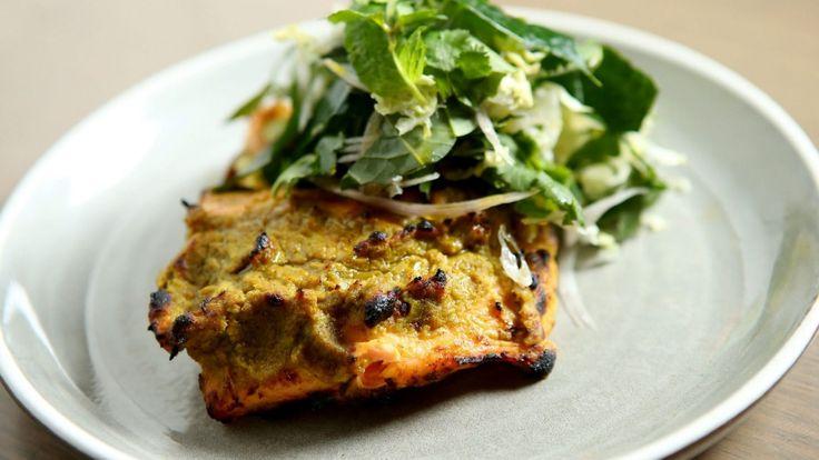 Healthy makeover: Adam D'Sylva's tandoori salmon from Tonka