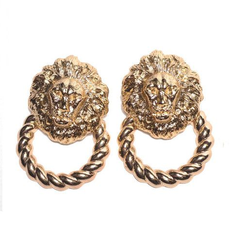 Queen Of The Jungle Doorknockers Earrings - Melody Ehsani