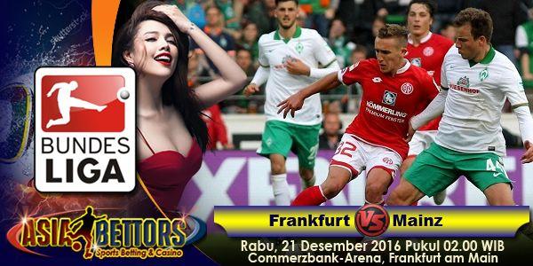 Prediksi Frankfurt vs Mainz 21 Desember 2016, Prediksi Skor Eintracht Frankfurt vs Mainz, Jadwal Bundesliga Jerman antara Eintracht Frankfurt vs FSV Mainz 05 akan berlangsung pada hari Rabu, 21 Desember 2016 Pukul 02.00 WIB, langsung dari Commerzbank-Arena, Frankfurt am Main.