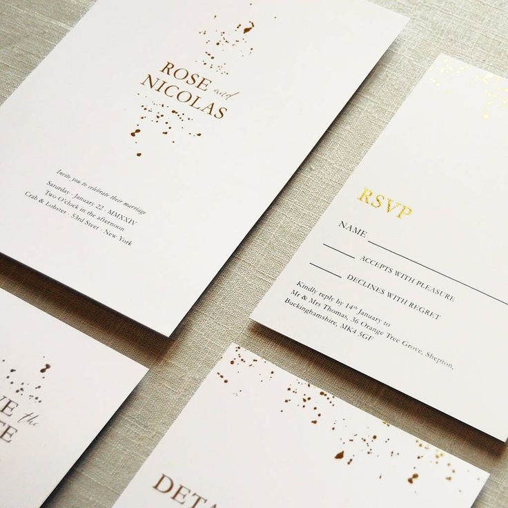 Alchemy Wedding Invitation Set Best 22 Motif