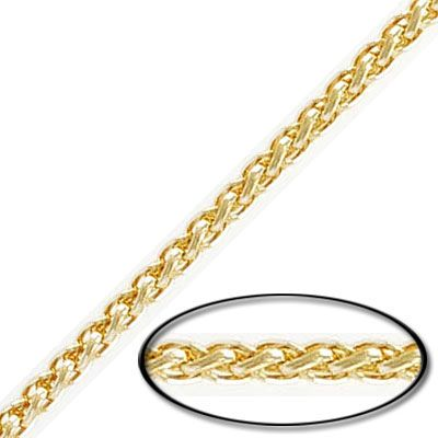 Chain, 3mm, gold plate, 10 meters