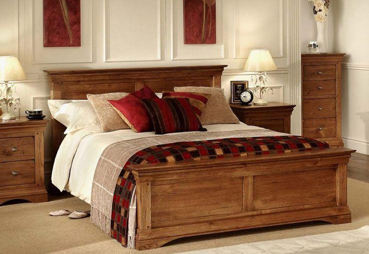 fotos de camas de madera calidas