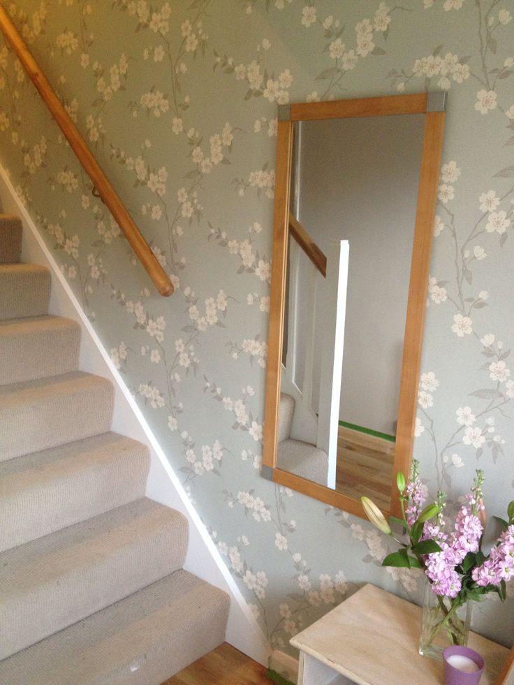 John Lewis cherry blossom wallpaper hallway
