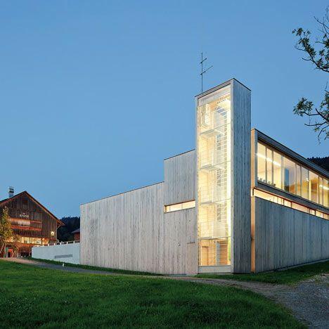 Modern Fire Station in Western Austria by Dietrich Untertrifaller on arcilook.com