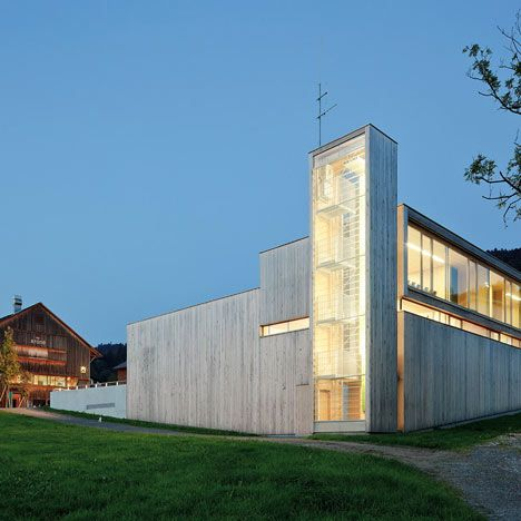 Modern Fire Station in Western Austria by Dietrich Untertrifaller on arcilook.com