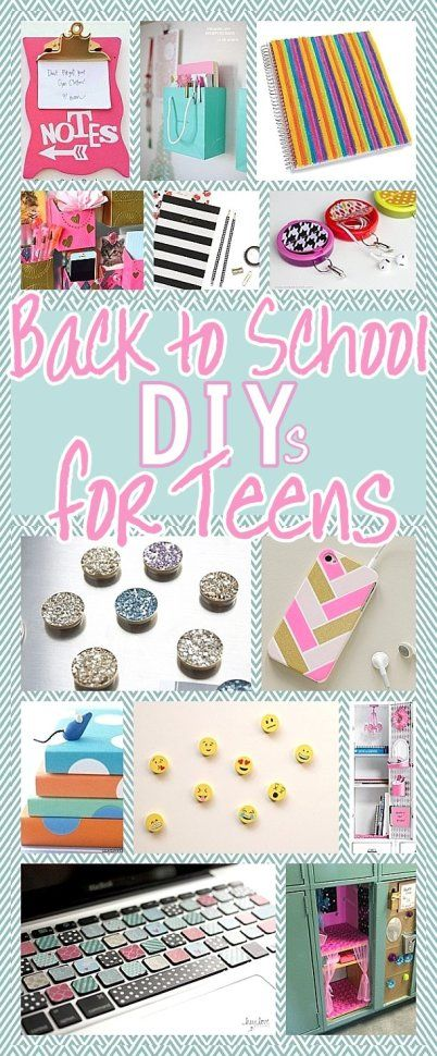 DIY Back to School Projects for Teens and Tweens - Locker Decoration Ideas - Customized School Supplies and Organizers - accessories and more for the do it yourself TEEN or TWEEN