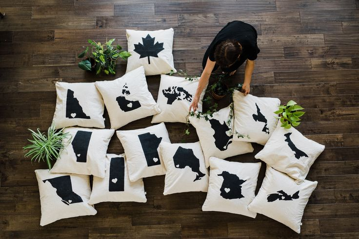 Canadian Province and Territory Pillows Handmade Non toxic ecofriendly custom gift