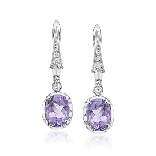 A romantic history; legend has it St. Valentine, the patron of romantic love wore an Amethyst ring carved with the image of Cupid. Read more about Amethyst on our blog. #mazzucchellis #jeweller #jewellery #amethyst #birthstone #februarybirthstone #giftideas #birthdaygift #giftsforher #earrings #amethystearrings #diamonds #diamond #diamondearrings #stValentine #ValentinesDay #love