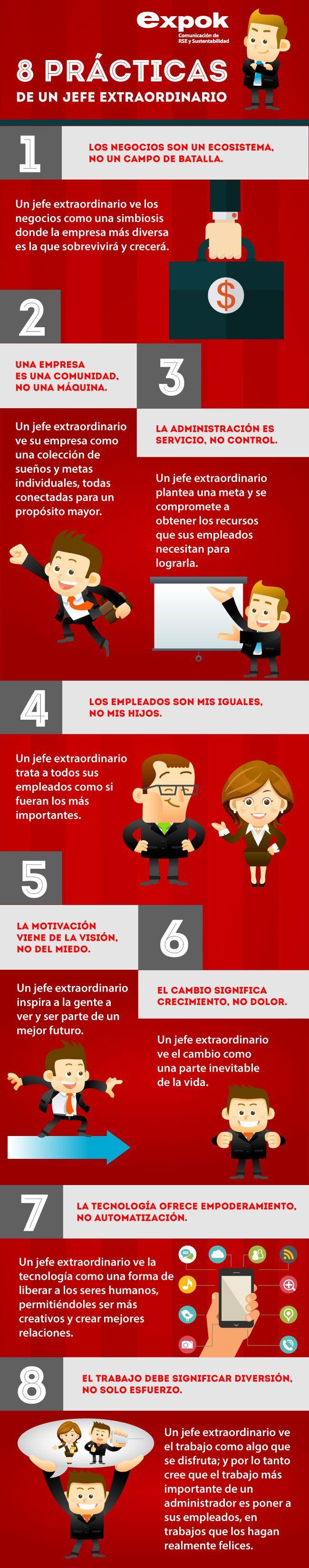 Las 8 prácticas de un jefe extraordinario #Liderazgo #Leadership