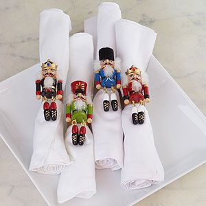 perhaps even better than the napkins as far as nutcracker Christmas decor goes UPDATE: bought these, they are super cute