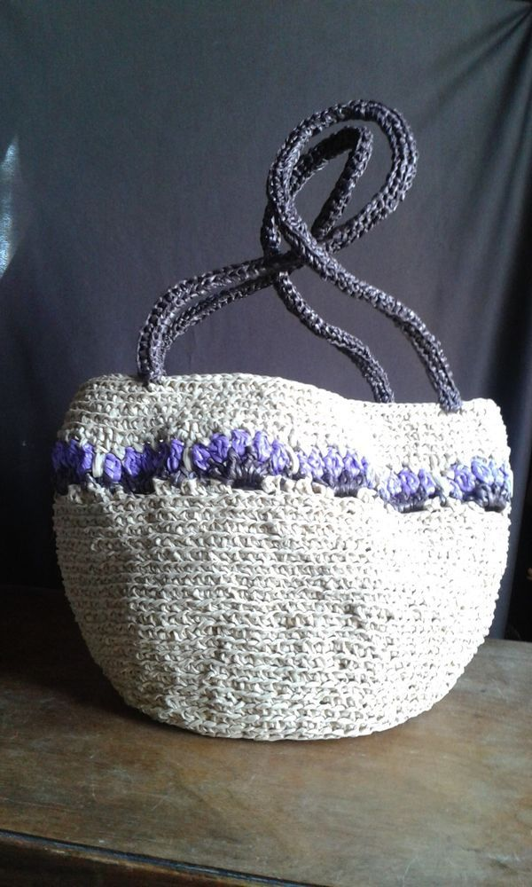 Borsa in raffia fatta a mano /Raffia bag handmade