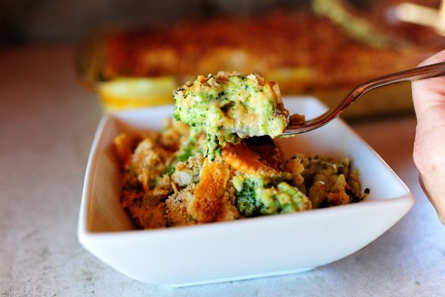 Pioneer women Broccoli cheese and cracker casserole - made this for Thanksgiving and it was delicious!